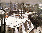 Gustave Caillebotte Rooftops Snow 1878