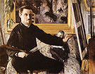 Gustave Caillebotte Self Portrait at the Easel 1879