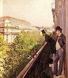 Gustave Caillebotte A Balcony 1880