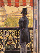 Gustave Caillebotte The Man on the Balcony 1880