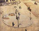Gustave Caillebotte A Traffic Island Boulevard Haussmann 1880