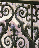 Gustave Caillebotte View through a Balcony  1880