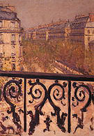 Gustave Caillebotte A Balcony in Paris 1880