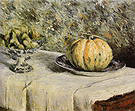 Gustave Caillebotte Melon and Bowl of Figs  c1880