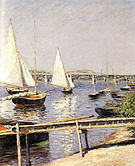 Gustave Caillebotte Sailing boats at Argenteuil c1885