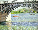 Gustave Caillebotte The Argenteuil Bridge and the Seine c1880