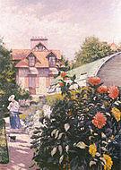 Gustave Caillebotte Le jardin a Petit-Gennevilliers-les roses  1886