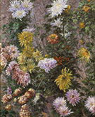 Gustave Caillebotte White and Yellow Chrysanthemums Garden at Petit-Gennevilliers 1893