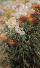 Gustave Caillebotte Clump of Chrysanthemums Garden at Petit-Gennevilliers  1893