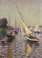 Gustave Caillebotte Regattas at Argenteuil  1893