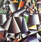 Kazimir Malevich Woman with Water Pails 1912