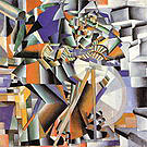 Kazimir Malevich The Knife Grinder c1912