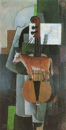 Kazimir Malevich Cow and Violin 1913
