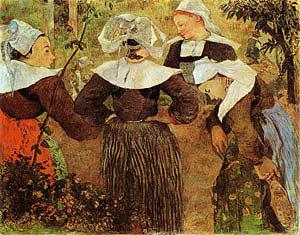 Paul Gauguin The Four Breton Girls 1886