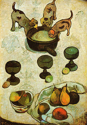 Paul Gauguin Still Life with Three Puppies 1888