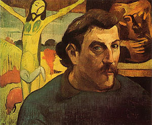 Paul Gauguin Self-Portrait with Yellow Christ  1889