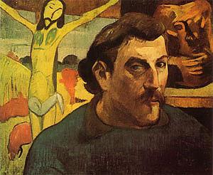 Paul Gauguin Self-Portrait with Yellow Christ  1889