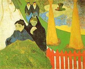 Paul Gauguin Women from Arles in the Public Garden  the Mistral  1888