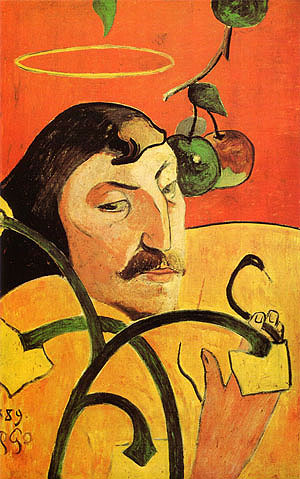 Paul Gauguin Caricature Self-Portrait 1889