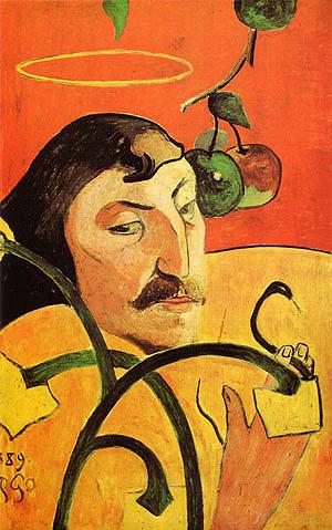 Paul Gauguin Caricature Self-Portrait 1889