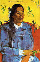Paul Gauguin Woman with a Flower Vahine No Te Tiare  1891