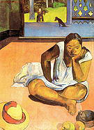 Paul Gauguin Brooding Woman Te Faaturuma 1891