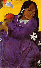 Paul Gauguin Woman with a Mango (Vahine No Te Vi)  1892