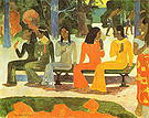 Paul Gauguin We Shall Not Go to Market Today Ta Matete 1892