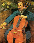 Paul Gauguin The Cellist Portrait of Upaupa Schnek-lud 1894