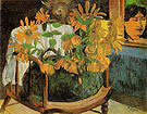 Paul Gauguin Sunflowers on a Chair 1901