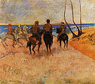 Paul Gauguin Horsemen on the Beach 1902