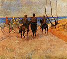 Paul Gauguin Horsemen on the Beach 1902