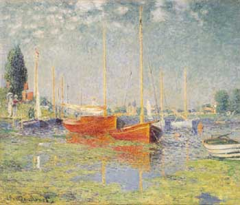 Claude Monet Boats at Argenteuil 1875