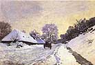 Claude Monet Cart on the Road to Snow 1865