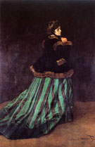 Claude Monet Camille or The Woman in the Green Dress 1866