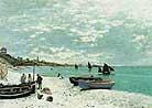 Claude Monet The Beach at Sainte Adresse 1867