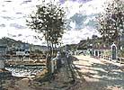 Claude Monet The Bridge at Bougival 1870