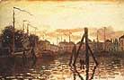 Claude Monet Zaandam Harbour 1871