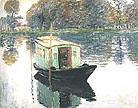 Claude Monet The Studio Boat 1874