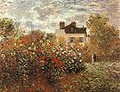 Claude Monet Monet's Garden at Argenteuil Dahlias 1873