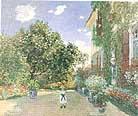 Claude Monet Monet's House at Argenteuil 1873