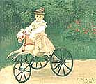 Claude Monet Jean Monet on His Mechanical Horse 1872