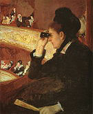Mary Cassatt At the Francais a Sketch 1877