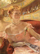 Mary Cassatt Woman in a Loge 1878