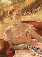 Mary Cassatt Woman in a Loge 1878