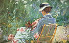 Mary Cassatt Lydia Seated in the Garden with a Dog in Her Lap 1880