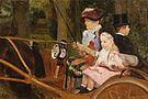Mary Cassatt Driving 1881