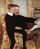 Mary Cassatt Portrait of Alexander J Cassatt and His Son Robert Kelso Cassatt 1884