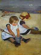 Mary Cassatt Children on the Shore 1885