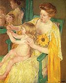 Mary Cassatt The Mirror 1905